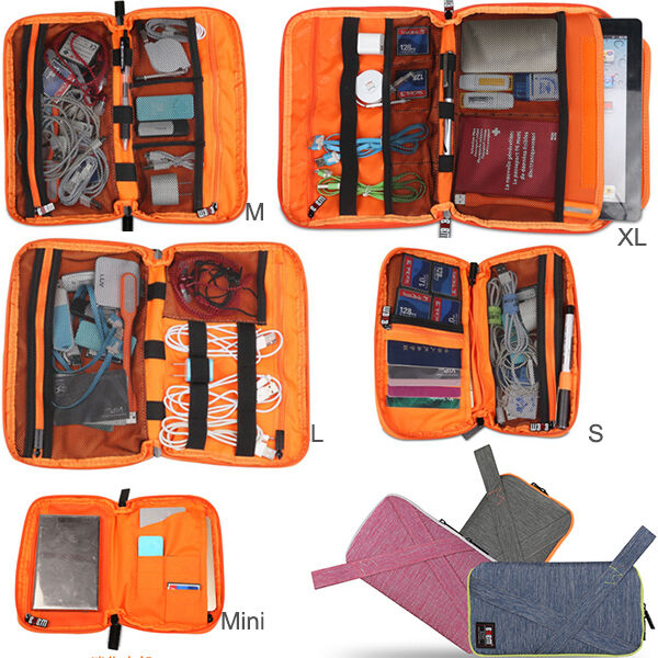 Carry Organizer Bag Case For Apple iPad Samsung Cable Earpho