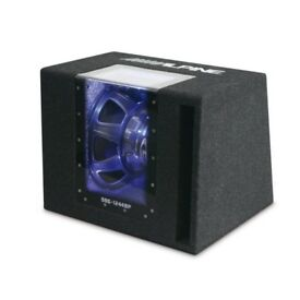 alpine subwoofer and alpine amplifier