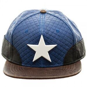 OFFICIAL MARVEL COMICS - CAPTAIN AMERICA STEALTH PU SNAPBACK CAP (BRAND NEW)