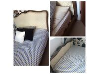 French vintage style double bed