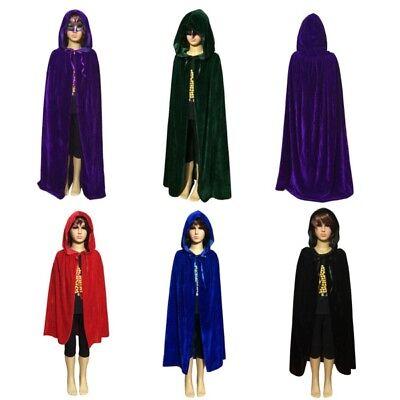 Halloween Kostüm Kind Kinder Mädchen Jungen Kapuzen Samt Cape Umhang S M - Cape Samt Kind Kostüm