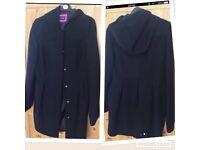 Ladies size 14 wool blend coat black