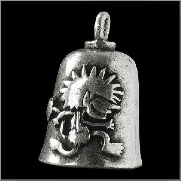 Gremlin Motorcycle Guardian Angel Good Luck Gremlin Bell  Made in USA