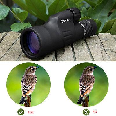 Waterproof Zoom 10-30x50 Monocular w/ Tripod High Power Mini Spotting Scope Best