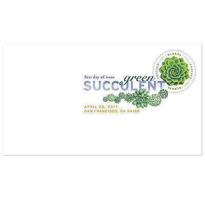 Usps New Global Forever Green Succulent Digital Color Postmark