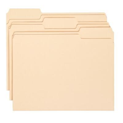 Office Depot Brand Letter Size 13 Cut Economy Manila File Folders 150-pk