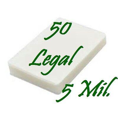50 Legal Size Laminating Laminator Pouches Sheets 9 X 14-12 5 Mil.
