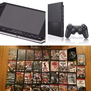 PlayStation 2 (Slim), PSP, and 35 games