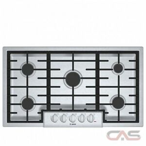 "BOSCH Gas Cooktop 800 Series 36"" - Stainless Steel NGM8655UC"
