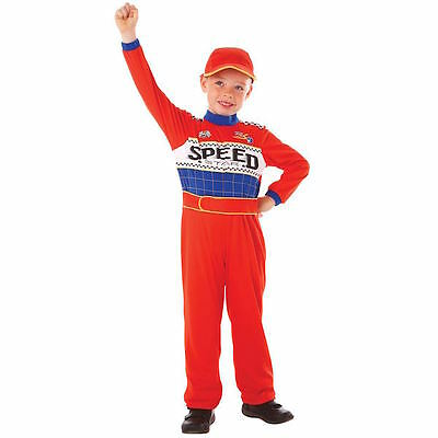 Used, Speed Racer Jumpsuit Fancy Dress Costume 6 -8 years  for sale  Shipping to United States