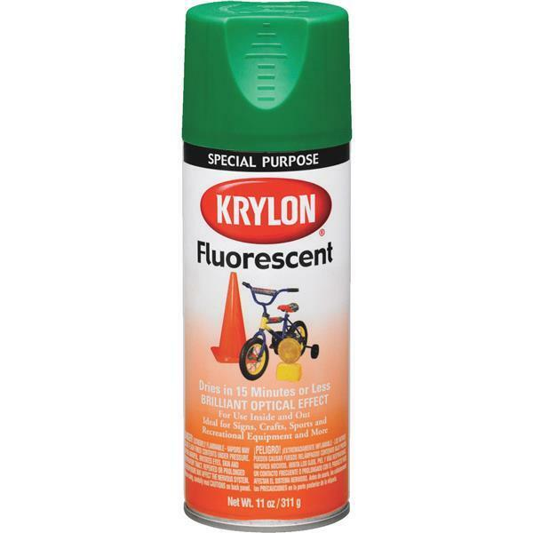Krylon Fluorescent Spray Paint 11 oz. can green 3106