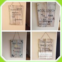 Great Wedding Gift - Personalized Rustic Signs