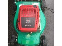 Briggs and Stratton petrol lawnmower