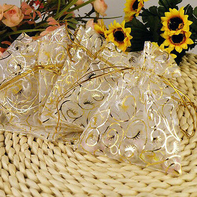 100pcs Organza Bags Wedding Favors Candy Bag Birthday Bouquet Mesh Gift Decor