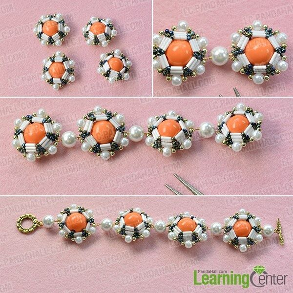 Time for the final look of the beading ball bracelet for women: