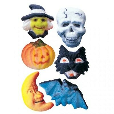 Sugar Decorations Cookie Cake Cupcake HALLOWEEN DELUXE ASSORTMENT 12 - Halloween Decorated Cookie Cakes