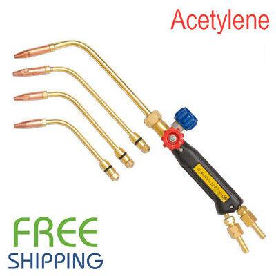 Gas Welding Soldering Heating Torch Gas Type Oxygen Acetylene Free Shipping