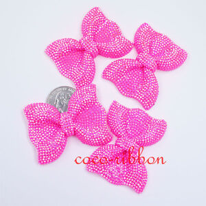 52mm 5/10/20pc Jumbo Large Faux AB Color Rhinestone Bow Flatback Resin Cabochon