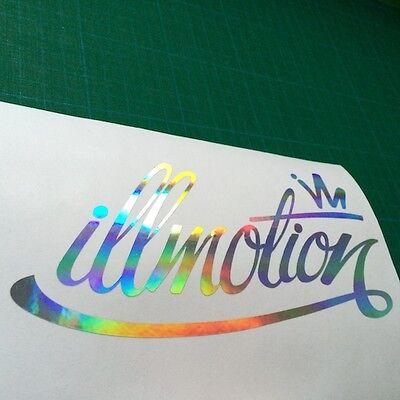 Illmotion Fatlace Oil Spill Chrome Effect Vinyl Decal Sticker, Car Van Window