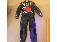 RST motorbike genuine leather suit 2 pieces excellent condition