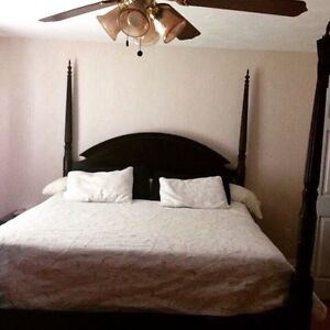 King size bed & frame for sale