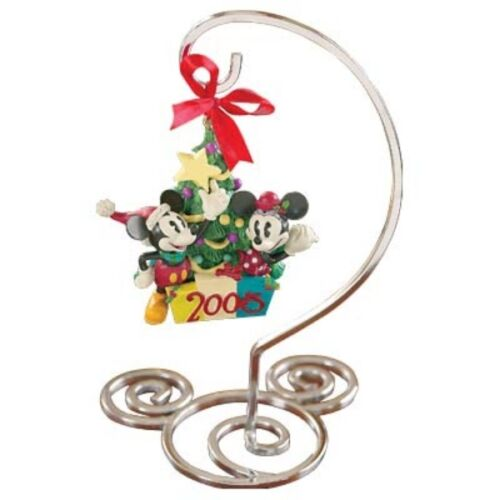 New Disney Mickey & Minnie 2005 Ornament with Stand