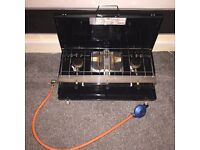 SUPER CLEAN Yellowstone 3 Burner Gas Cooker With Grill