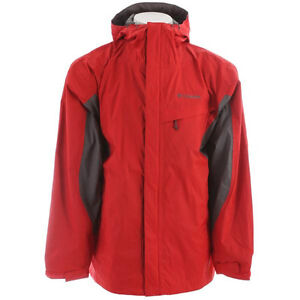 Columbia Mens Watertight Jacket  Intense Red/Charcoal  Large new in package