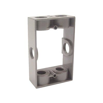 Do It-weatherproof Gray Single Outdoor Electric Box Extension Adapter 6 Outlets
