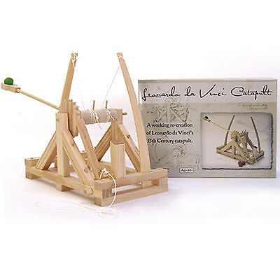 New  Leonardo Da Vinci Catapult Wooden Construction Craft Kit   Siege Engines