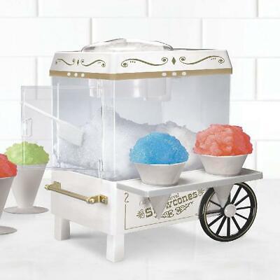 Nostalgia Scm502 Vintage Snow Cone Maker Machine Ice Shaver W Snow Cones Scoop