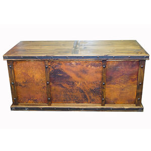 Laguna-Copper-Desk-with-3-Copper-Panels-Rustic-Western-Real-Wood