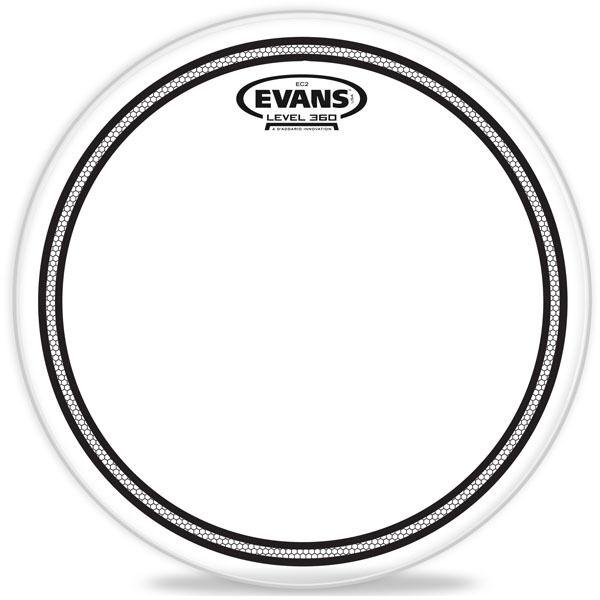 "Evans EC2 Clear Drum Head Skin Choose Size 6"" 8"" 10"" 12"" 13"" 14"" 15"" 16"" & 18"""