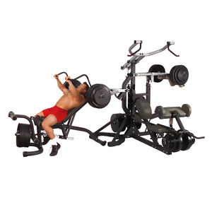 Body solid leverage gym home gym free weight