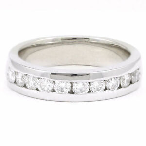 Platinum Channel Set Diamond Band (0.50 tdw) #3575