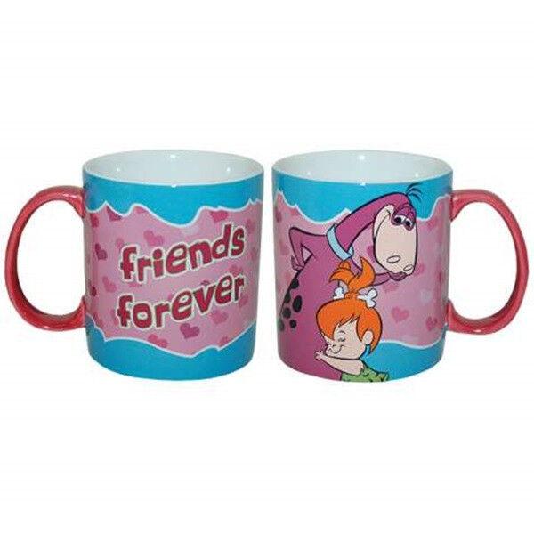 "The Flintstones Pebbles and Dino ""Friends Forever"" 14 oz. Ceramic Coffee Mug New"