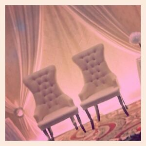 Wedding Loveseat and Majestic Chairs for Rent