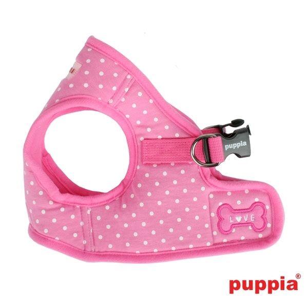 Puppia - Dog Puppy Harness Soft Vest - Dotty - Pink - S, M,