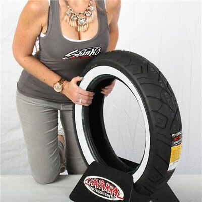 130/90-16 Shinko 777 Heavy Duty White Wall Rear Tire