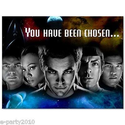 STAR TREK INVITATIONS (8) ~ Birthday Party Supplies Stationery Spock Kirk Abrams