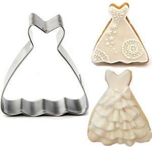 Wedding dress princess ball gown cookie cutter biscuit for Wedding dress cookie cutters