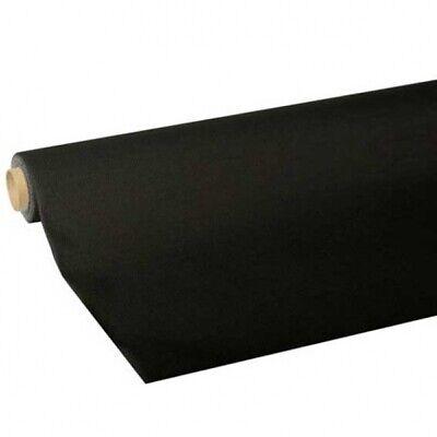 """Tischdecke schwarz, Tissue """"ROYAL COLLECTION"""", 5 Meter Rolle Papiertischdecke"""