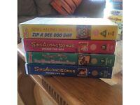 VHS Disney Sing a Long tapes