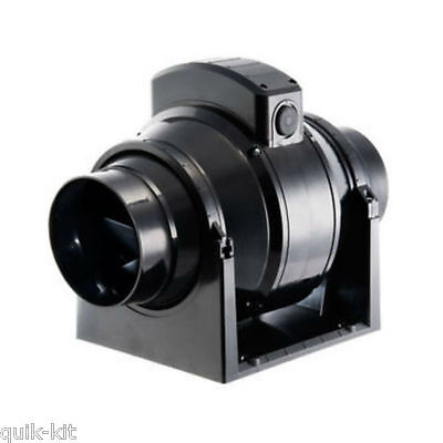 Manrose MF100T Mixed Flow In-Line Extractor Fan with Timer 100mm / 4 Inch