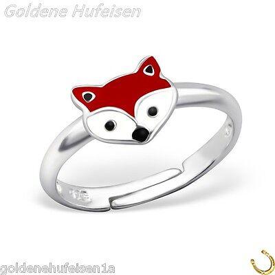 Fuchs Kinder Ring 925 Echt Silber Top Geschenkidee / z-500