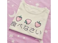 [NEW] Japanese Strawberry T-Shirt L-size