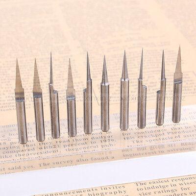 10pcs V-shape Carbide Pcb Board 0.2mm 10 Degree Engraving Bits Cnc Router Tool