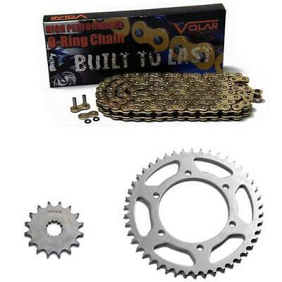 Volar O-Ring Chain and Sprocket Kit - Gold for 1998-2000 Suzuki GSXR 600 O-ring Chain Sprocket