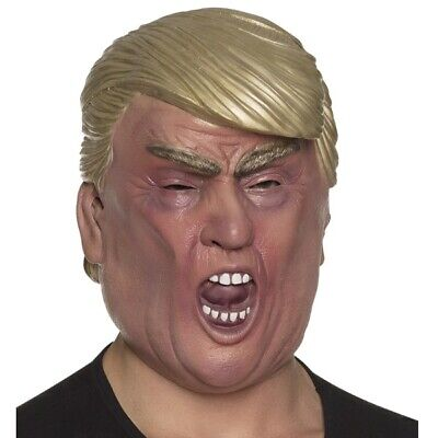 DONALD TRUMP Latex Maske für Erwachsene BIG BOSS - US President Kostüm - Donald Trump Kostüm