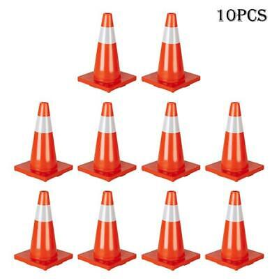 """28/"""" Traffic Safety Cones Reflective Collars Overlap Parking Construction 4Pcs AL"""
